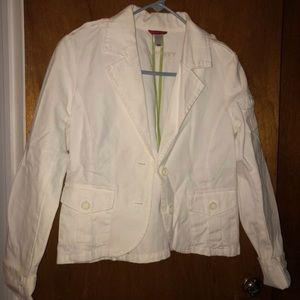 White Denim Blazer Jacket